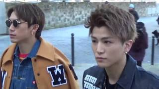 getlinkyoutube.com-Takanori Iwata & Naoto J Soul Brothers @ Paris 19 january 2017 Fashion Week show Off-White