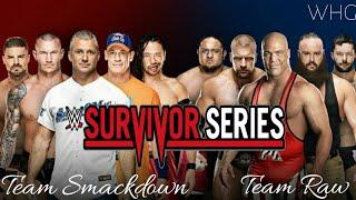 WWE Survivor Series 2017 Highlights Result Predictions | Team Raw Vs Smackdownlive Elimination Match