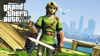 getlinkyoutube.com-LEGEND OF ZELDA!! (GTA 5 Mods Gameplay)