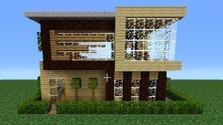 getlinkyoutube.com-Minecraft 360: Modern House Tutorial (House Number 3)
