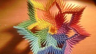 getlinkyoutube.com-How to make 3d origami rainbow vase (bowl)