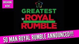 BREAKING NEWS   50 MAN WWE ROYAL RUMBLE COMING IN APRIL 2018!!!   Jeddah Saudi Arabia