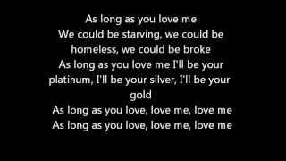 getlinkyoutube.com-As Long As You Love Me - Justin Bieber ft. Big Sean - Official Lyrics