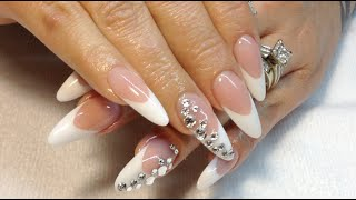 getlinkyoutube.com-How To Pink & White Almond Shape Nails\\MelodySusie 36 Watt UV Lamp Review
