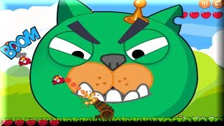 getlinkyoutube.com-Angry Birds Cannon 1 - Angry Birds Vs Bad Piggies - Angry Birds Game