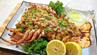 getlinkyoutube.com-Stuffed Lobster - Creamy Shrimp, Scallops and Crab Meat - PoorMansGourmet