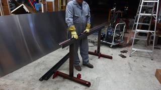 getlinkyoutube.com-DIY Sheet Metal Brake - 72 inch wide, cheap method.
