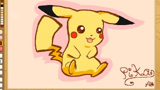 getlinkyoutube.com-ANIMAL JAM- Speed paint Pikachu!