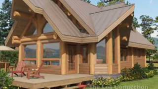 getlinkyoutube.com-Cascade stacked log home by The Log Connection