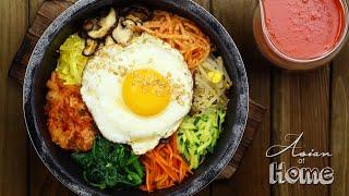 getlinkyoutube.com-Asian at Home | Dolsot Bibimbap (Korean Stone Pot Bibimbap)