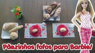 Comida para Boneca Barbie & Monster High - Mini Pães