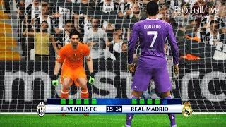PES 2017 | Juventus vs Real Madrid | Penalty Shootout | Final UEFA Champions League [UCL]