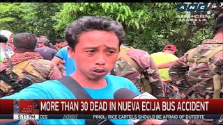 More than 30 killed after bus plunges from Nueva Ecija cliff