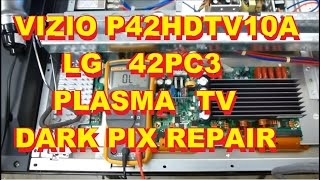 getlinkyoutube.com-Vizio Plasma P42HDTV10A LG Plasma 42PC3 Dark picture repair