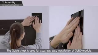 getlinkyoutube.com-LG's Wallpaper OLED Signage Installation Guide (55EJ5C)