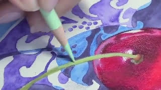 getlinkyoutube.com-Colored Pencil blending with water