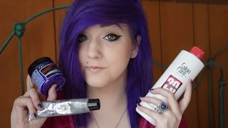 getlinkyoutube.com-How I Dyed My Hair Purple / Blue From Black | Brenna Neal