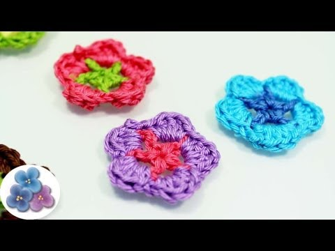 Como Hacer Flores de Crochet *How to Crochet a Flower* DIY Flores Amigurumi Ganchillo Pintura Facil