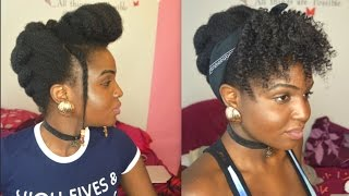 getlinkyoutube.com-DIFFERENT UPDO STYLES FOR NATURAL HAIR | PROTECTIVE STYLES