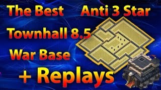 getlinkyoutube.com-Clash Of Clans - The Best New Townhall 8.5 (TH9) Anti 3 Star War Base 2016 + Replays