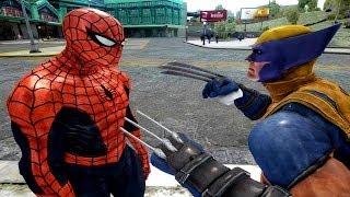 getlinkyoutube.com-Spiderman VS Wolverine - EPIC spider-man