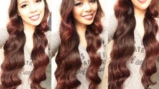 getlinkyoutube.com-No heat Korean Inspired Mool Gyul Waves Curls- Heatless Everyday Loose Waves