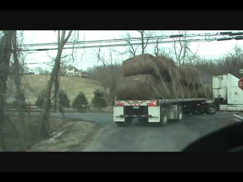 Hauling Hay out of Purceville VA 16 Jan 2010 pt 3