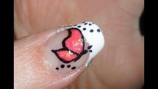 getlinkyoutube.com-White french with pink butterfly nail art -tutorial nail art farfalla rosa su french bianco
