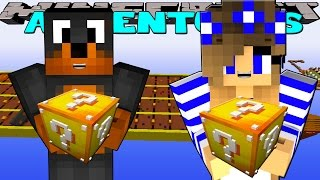 getlinkyoutube.com-Minecraft-Little Carly Adventures-LUCKY BLOCK RACE w/Donut the Dog.