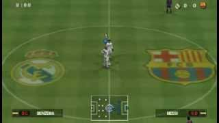 getlinkyoutube.com-PES 2013 PSP | Primeras Impresiones | Real Madrid Vs F.C.Barcelona
