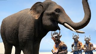 getlinkyoutube.com-Far Cry 4 Massive Scale Battles Elephants vs Soldiers