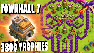"getlinkyoutube.com-Clash of Clans - THIS IS CRAZY! ""TOWN HALL 7 AT 3,800+ TROPHIES!"" How did he do it?"