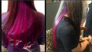 getlinkyoutube.com-Dying My Sisters Hair Purple & Pink Ombré