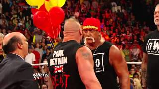 getlinkyoutube.com-John cena saves hulk hogan the rock lesnar