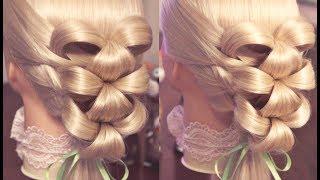 "getlinkyoutube.com-Причёска на резинках - ""Лилии"" - Hair tutorial - Hairstyles by REM"
