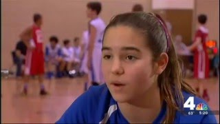 getlinkyoutube.com-12 Year Old Hoops Star Inspires With Prosthetic Leg