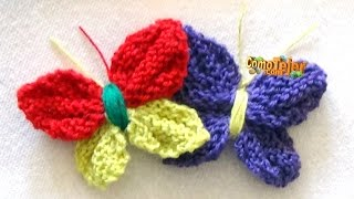 Cómo Tejer MARIPOSAS - How to Knit a BUTTERFLY - 2 Agujas (426)