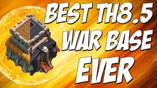 getlinkyoutube.com-Best TH 8.5 War Base Design Ever! | Attacked 10 Times in Clan War | Clash of Clans