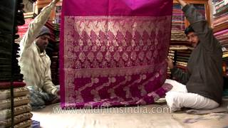 getlinkyoutube.com-Hand crafted and hand woven Banarasi sarees from master weavers in Varanasi