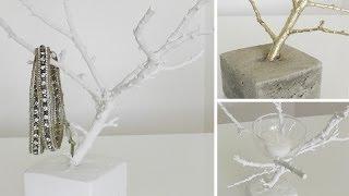 getlinkyoutube.com-DIY: Deko-Zweig als Schmuckbäumchen oder Teelichthalter selber machen | Deko Kitchen