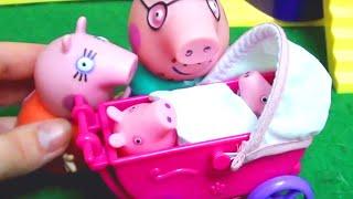 Мультфильм 🔴Peppa Pig🔴  Свинка Пеппа. Рождение малыша. Коляска