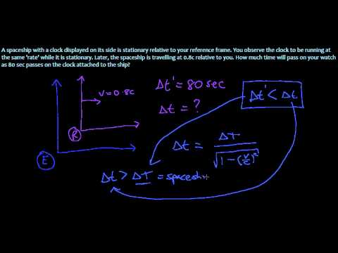 15. Time Dilation in Special Relativity - Example Problem 2