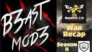 CWL Season 2 HYPE!!! b3astmod3 vs OneHive 2.0 war recap