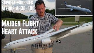getlinkyoutube.com-Supreme-Hobbies Airbus A330-600 - Maiden Flight and Heart Attack!