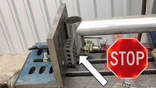 getlinkyoutube.com-Fabrication Basics // Stop Measuring and use a Stop block - Perfect Tube Notching!