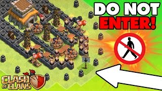 "getlinkyoutube.com-Clash Of Clans | EPIC TROLL BASE ""No Man's Land"" 
