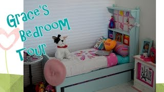 getlinkyoutube.com-American Girl Doll ~ Setting up Grace's Bedroom Tour ~ Disney Frozen