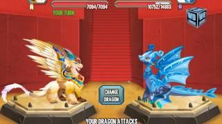 getlinkyoutube.com-Dragon City Mobile: Archangel Dragon [BATTLE]