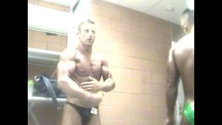 getlinkyoutube.com-Mr. peak Marco Addis flex his famous biceps in the back stage before his victory. L.A. world cup 013
