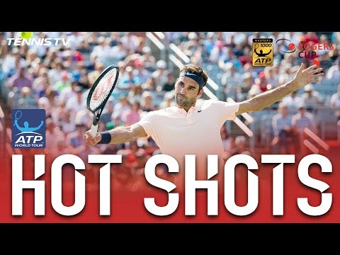 Hot Shot: Federer Fires Cross-Court Backhand Montreal 2017